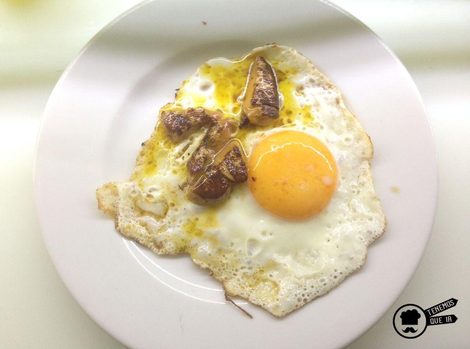 Huevo Rossini con Foie, Restaurante Sala de Despiece Madrid