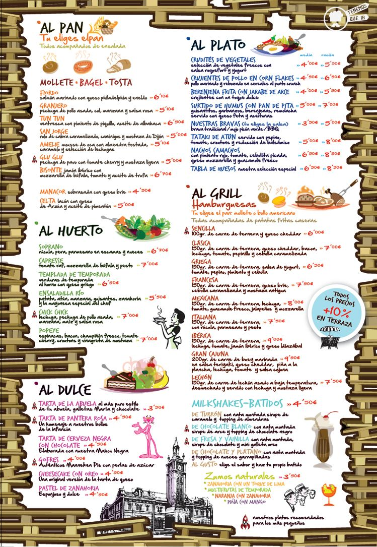 Carta Restaurante Costello Rio Madrid