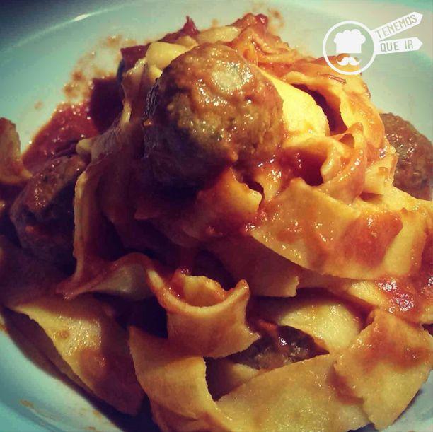 Spaguetti e polpette Trattoria Manzoni