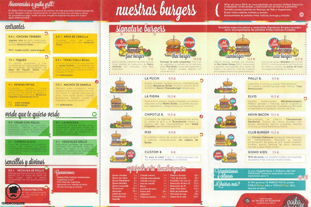 A Goiko Grill Hamburguesas Madrid Tenemosqueir Carta