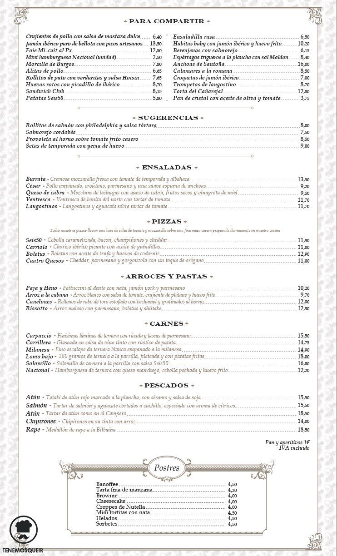 A Restaurante 650 La Moraleja Tenemosqueir Carta
