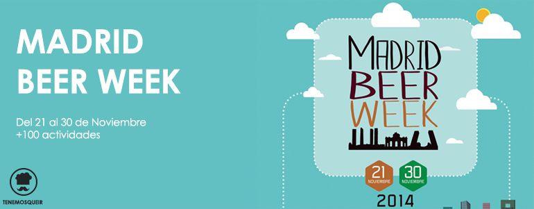 Semana de la Cerveza Madrid Beer Week Cartel