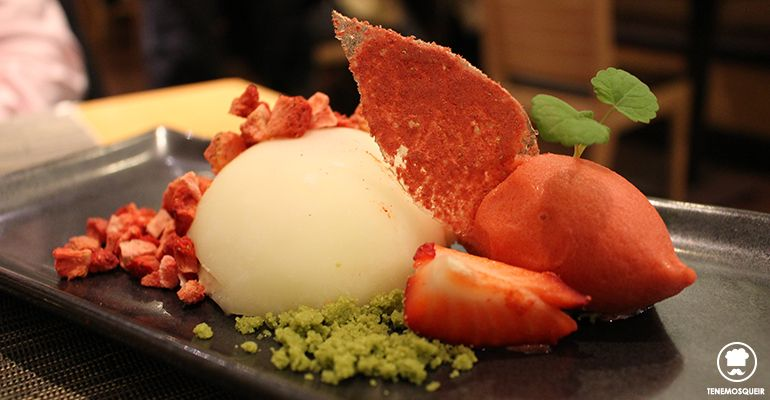 A Miyama Restaurante Japones Sushi Tenemosqueir Madrid Postre Fresas