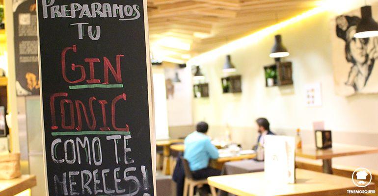 Gin Tonic A la Parrilla de Elcano Restaurante Carne Madrid Tenemosqueir