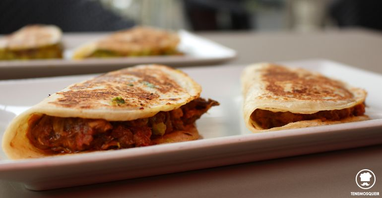 Tacos Ropa Vieja A Comala Restaurante Fusion Madrid Tenemosqueir