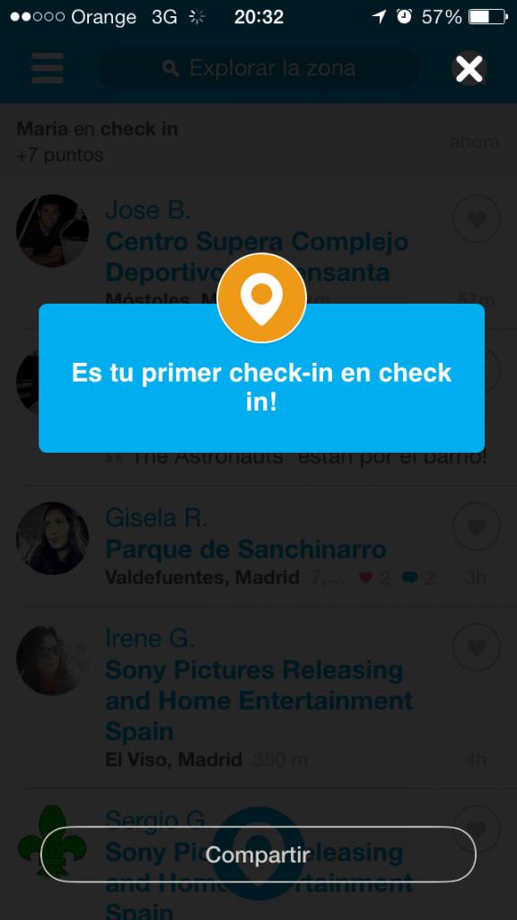 Foursquare Restaurante Check In