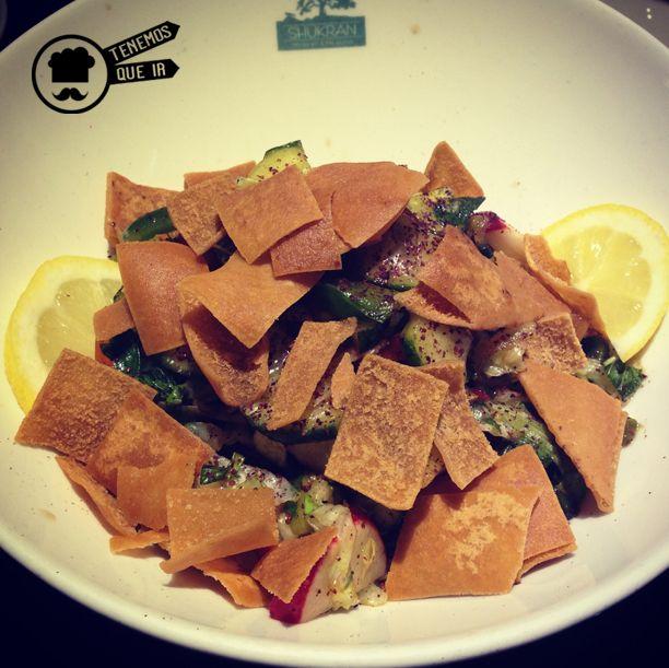 Fatoush Restaurante Shukran Madrid