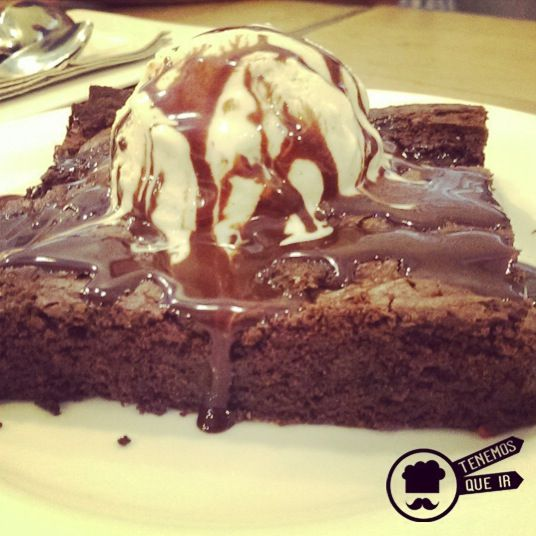 Brownie. Restaurante Mad Grill Madrid