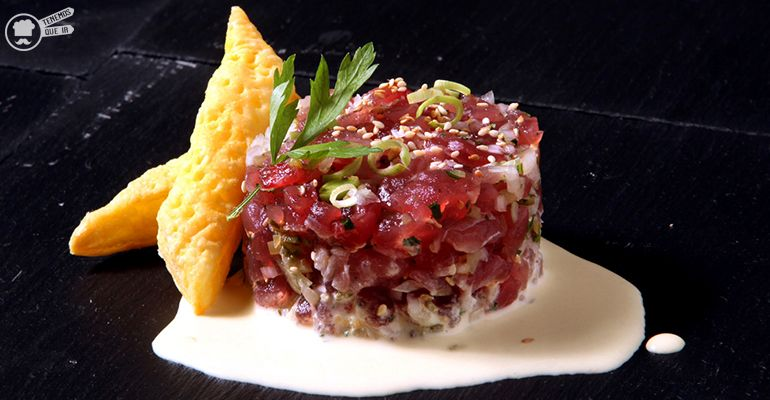Tartar de Atun A Taberna Cachivache Tenemosqueir Restaurante Madrid