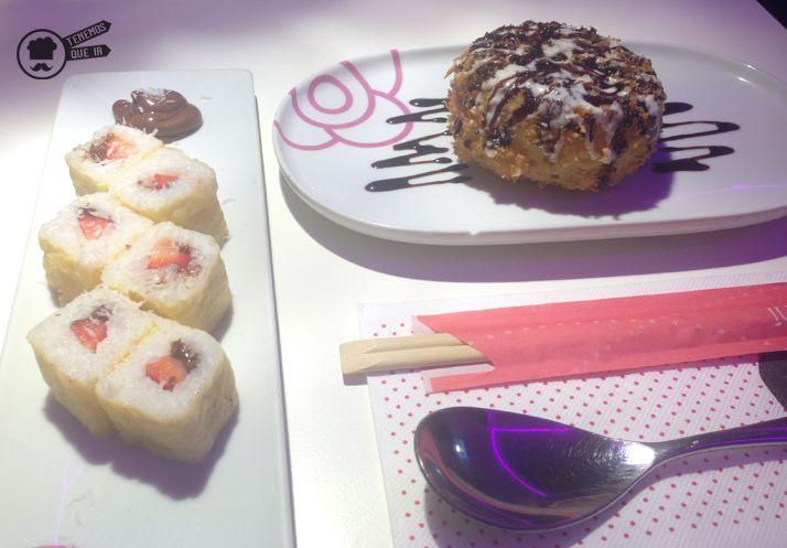 arta de queso y Miss Sushi Tenemosqueir Restaurante