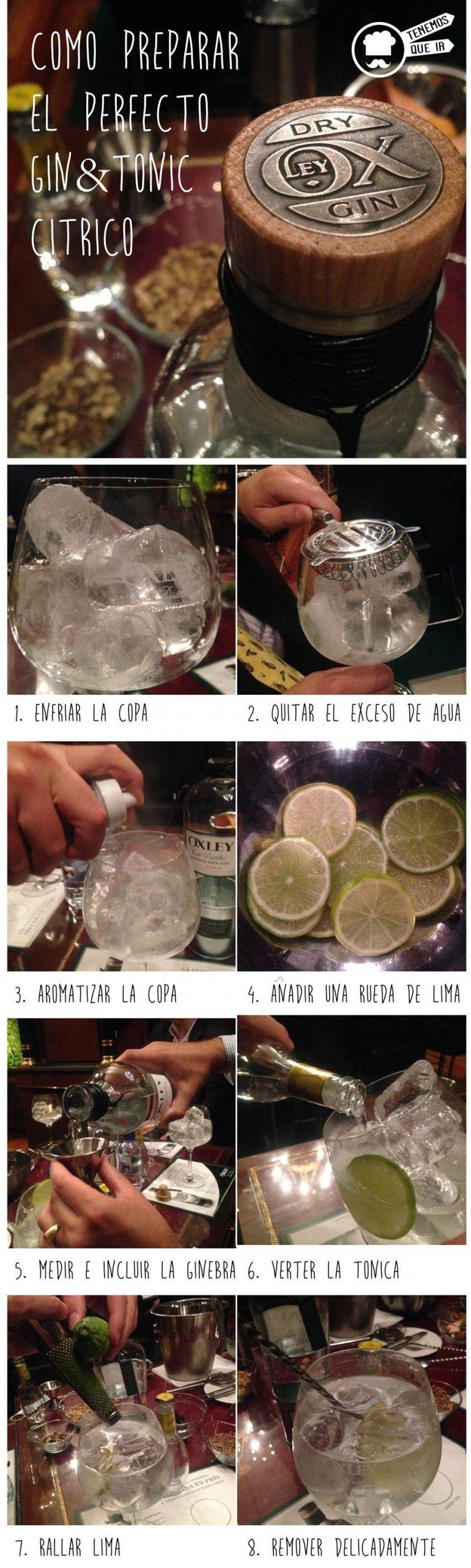Como preparar un Gin Tonic Citrico Infografia Tenemosqueir Oxley Gentelmen Club
