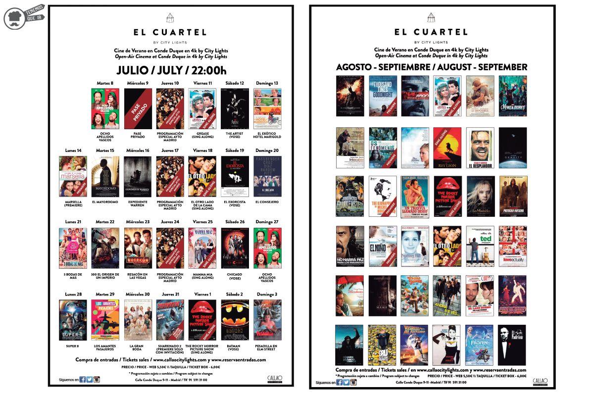 Cine de Verano Cartelera A El Cuartel By City Lights Tenemosqueir