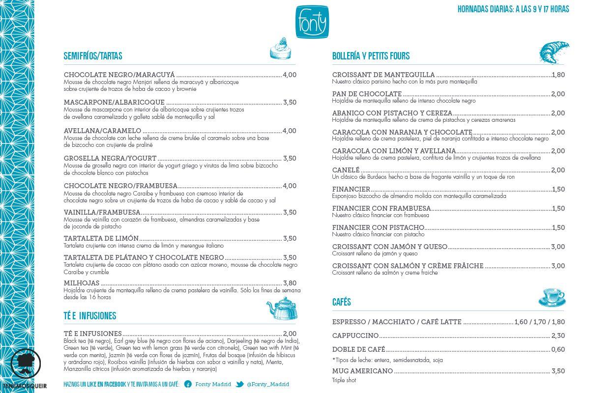 A Fonty Restaurante Cafeteria Pasteleria Madrid Tenemosqueir Carta 2