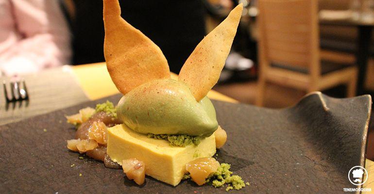 A Miyama Restaurante Japones Sushi Tenemosqueir Madrid Postre Castanas