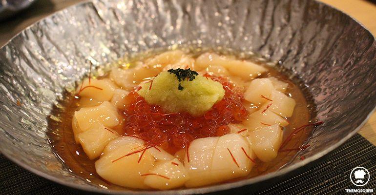 A Miyama Restaurante Japones Sushi Tenemosqueir Madrid Vieiria Huevas y Pepino