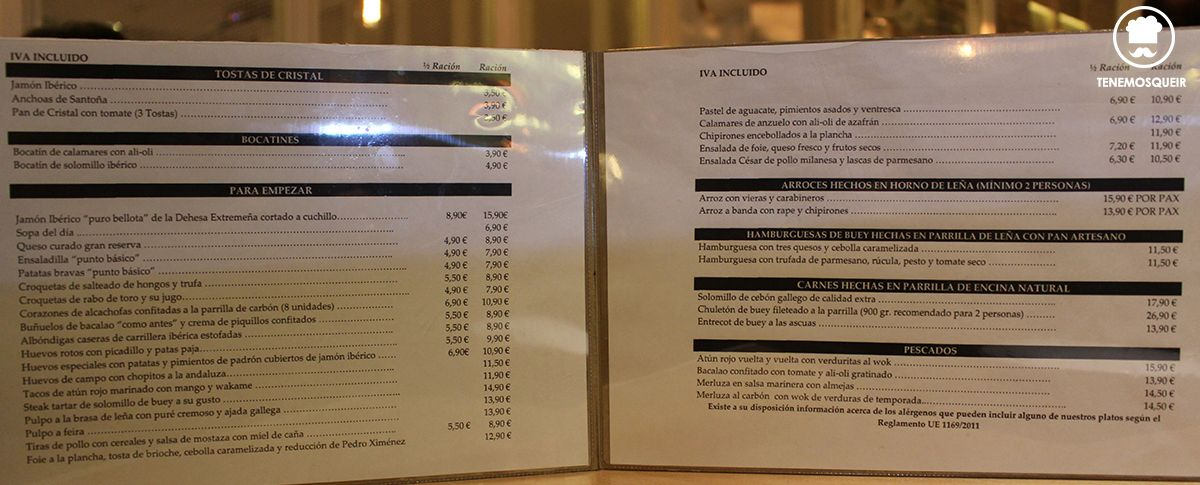 A Punto Basico Restaurante Madrid Tenemosqueir Carta