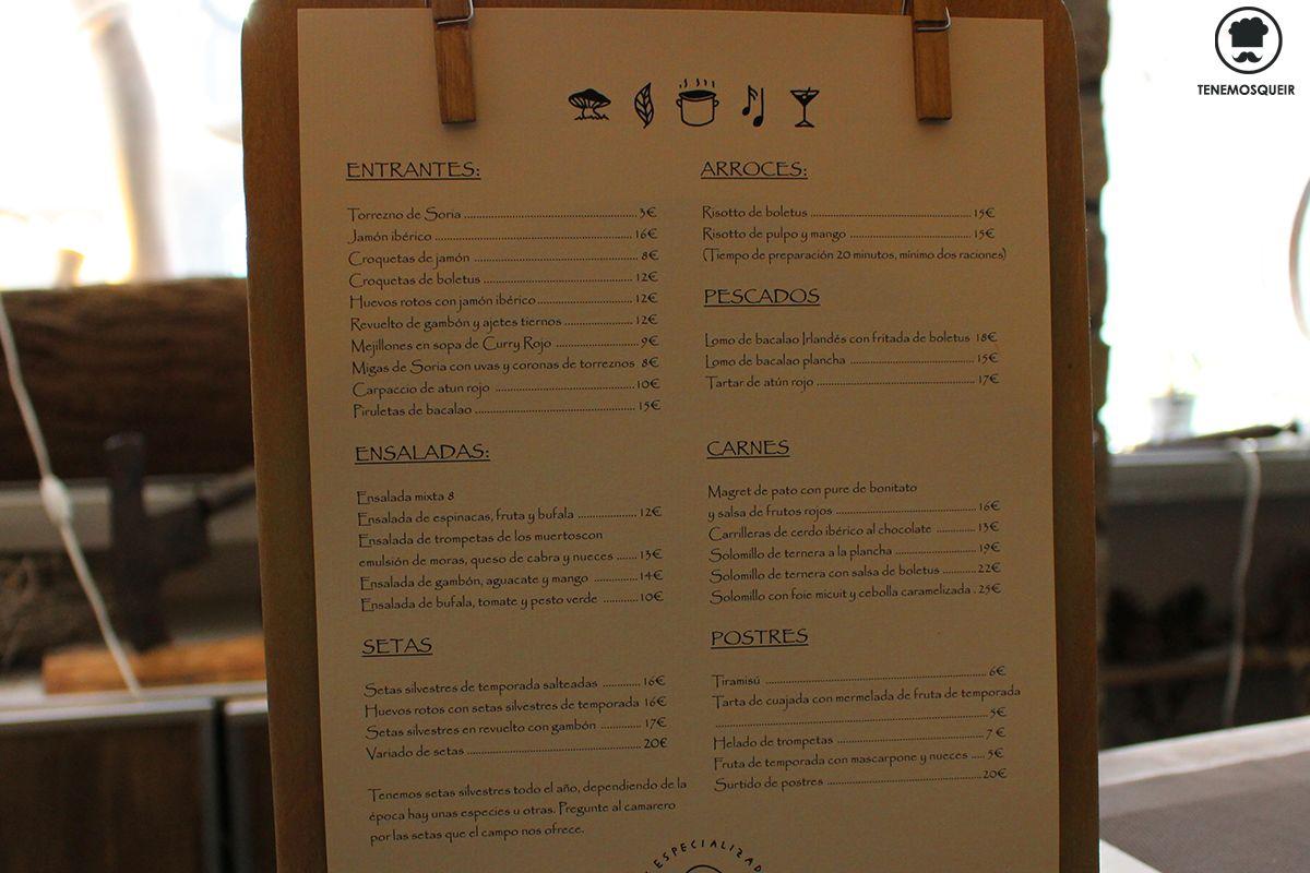 Carta A Restaurante Variopintos Madrid Soria Tenemosqueir