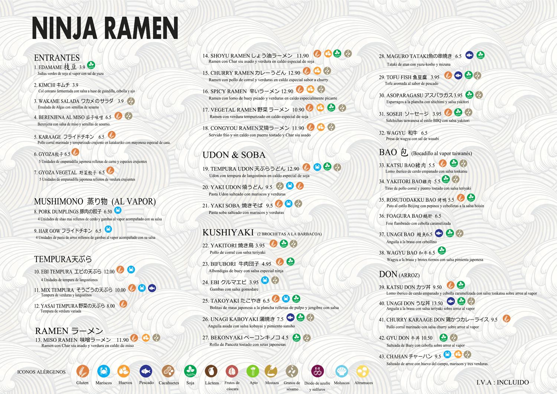 Ninja Ramen Carta