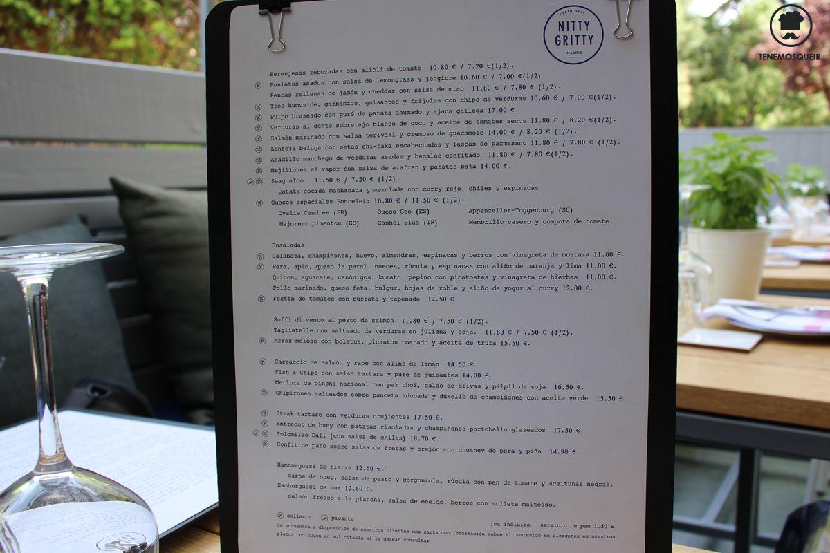 Restaurante Nitti Gritti Madrid Tenemosqueir Carta