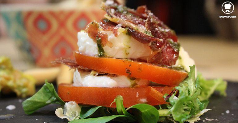 Burrata con Tomate Restaurante Le Qualite Tasca Madrid Tenemosqueir