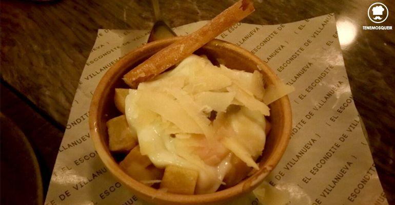 A Restaurante El Escondite de Villanueva Tenemosqueir Madrid Huevo de Campo Trufado con Parmesano