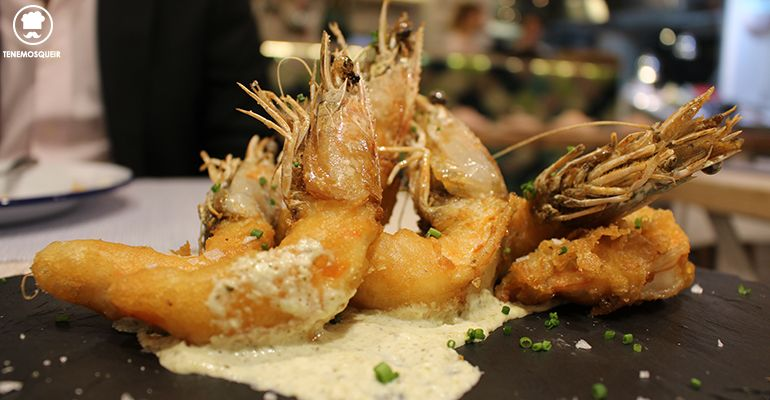 Langostinos Tempurizados Chiringuito del Senor Martin Tenemosqueir Restaurante Madrid
