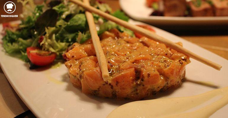 Tartar de Salmon Restaurante Clarita Madrid Tenemosqueir
