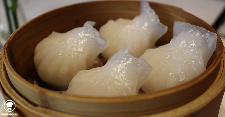 Jiaozi Cantones de Gambas El Bund Restaurante Asiatico Madrid Dim Sum Tenemosqueir