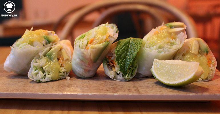 Rollitos Vietnamitas La Pagoda Restaurante Asiatico Tenemosqueir Madrid Terraza