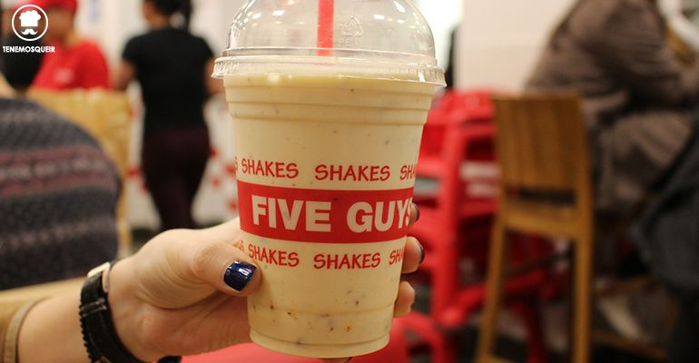 Shake Five Guys Gran Via Madrid Hamburgueseria Tenemosqueir
