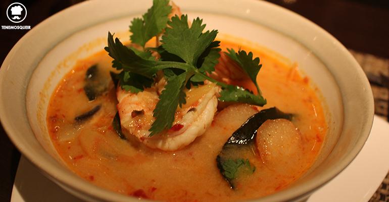 Sopa Langostinos Baiyor Thai Restaurante Thailandes Malasana Madrid