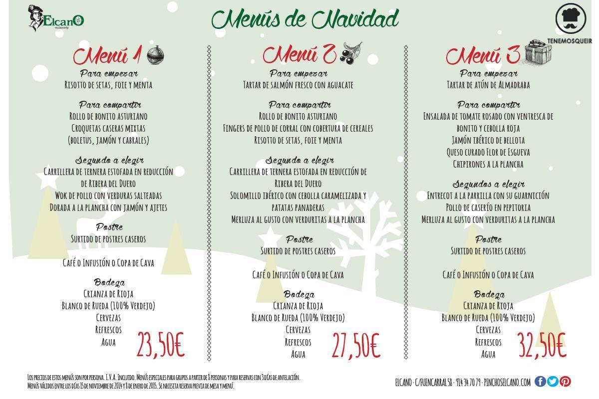 Menu para la cena de navidad trendy la with menu para la for Ideas menu cena amigos
